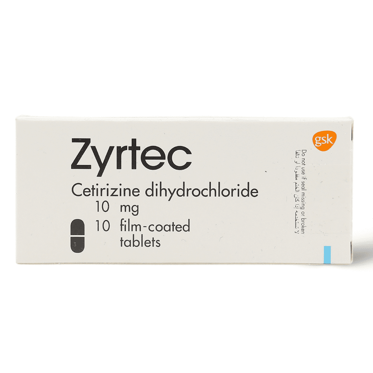 ZYRTEC 10 MG 10 TABLETS