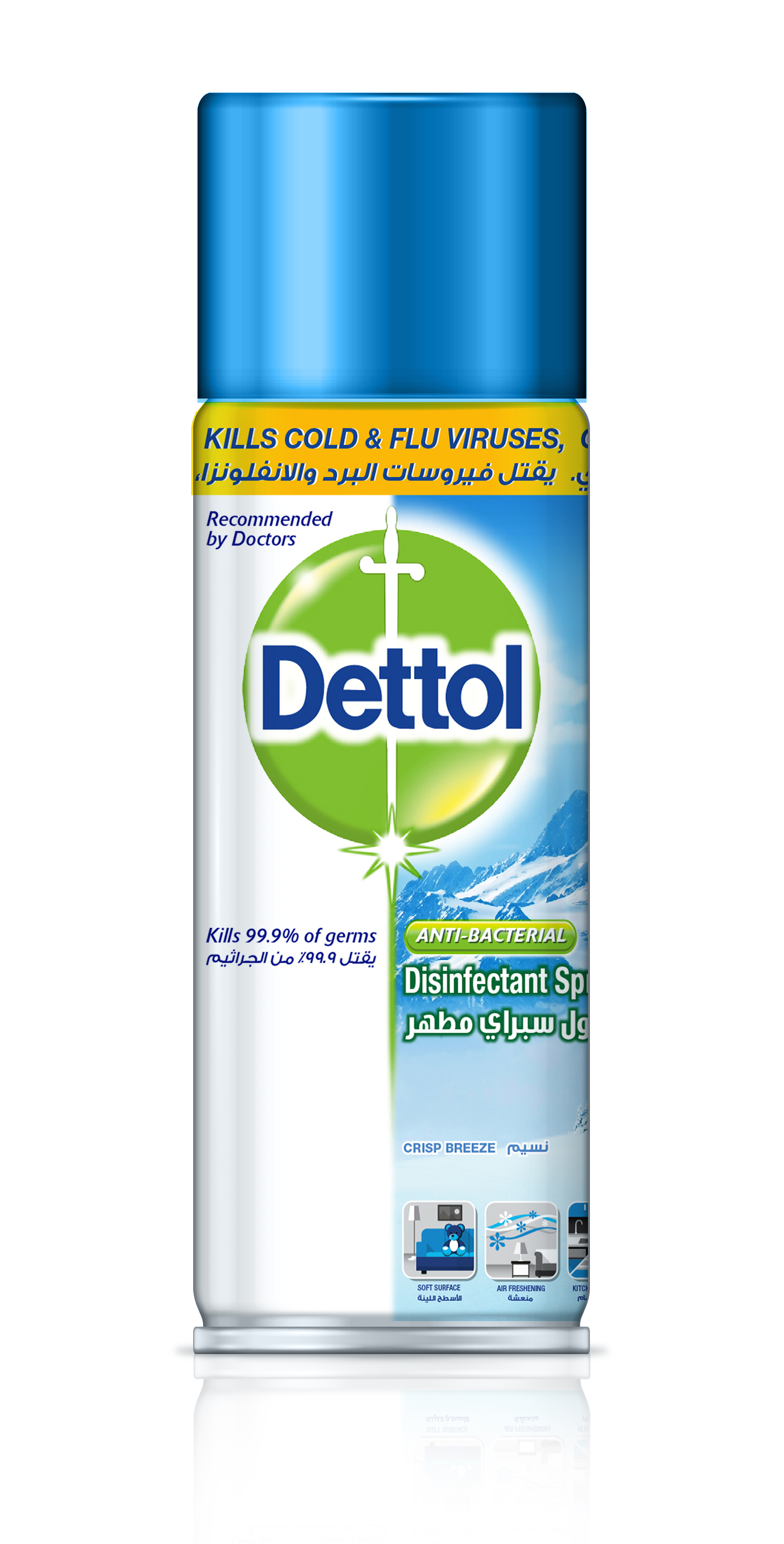 DETTOL | SPRAY CRISP LINEN 450 ML