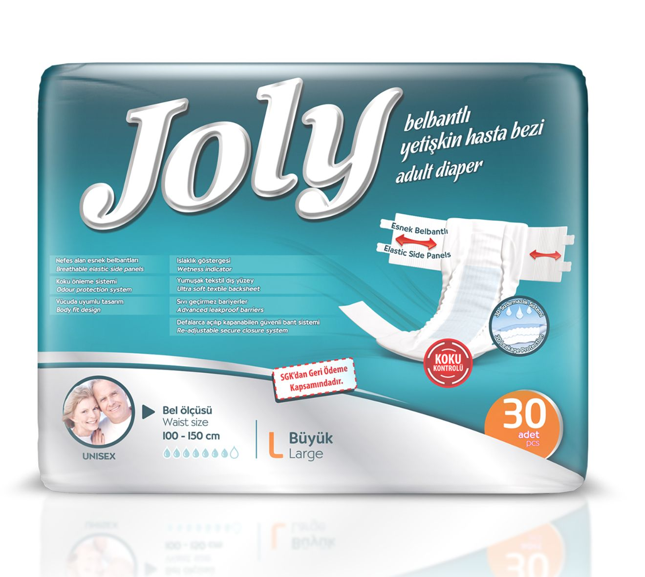 JOLY ADULT DIAPERS LARGE 30 PCS